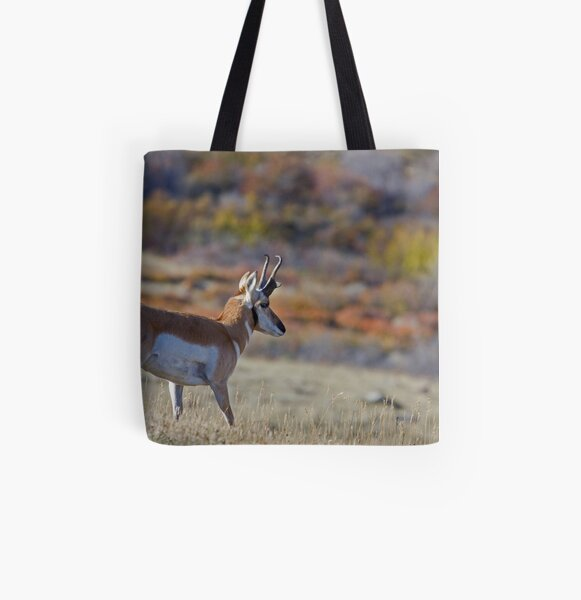 Pronghorn, Tapestry of Fall Color All Over Print Tote Bag
