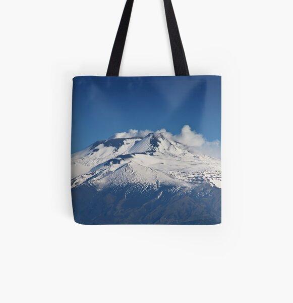 Prima neve sull'Etna All Over Print Tote Bag