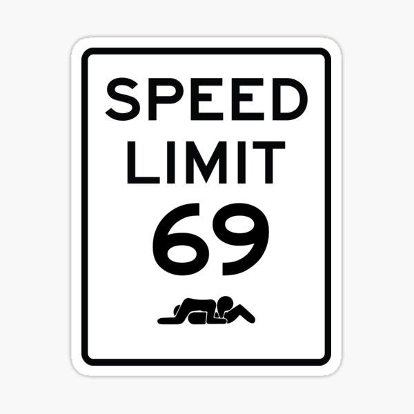 69 Límite de velocidad Pegatina