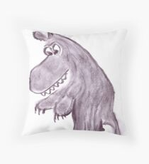 Frightening werwolf Throw Pillow