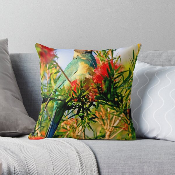 Port Lincoln Parrot Throw Pillow