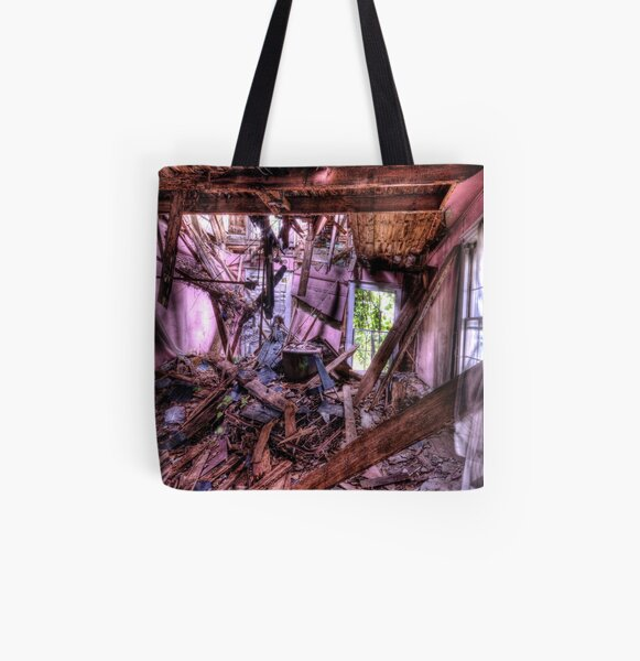 Collapsed All Over Print Tote Bag