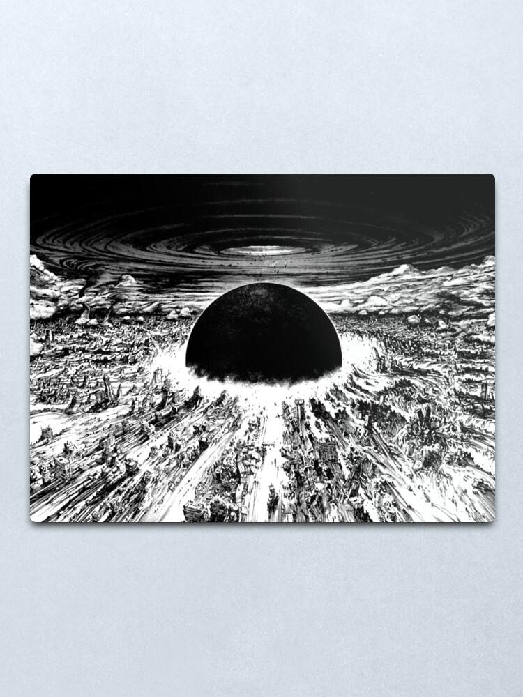 Alternate view of Akira cyberpunk city explosion Metal Print