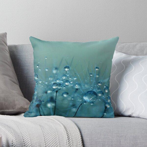 Blue Shower Throw Pillow