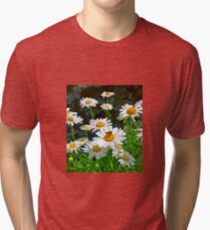 Moth on a Daisy Tri-blend T-Shirt