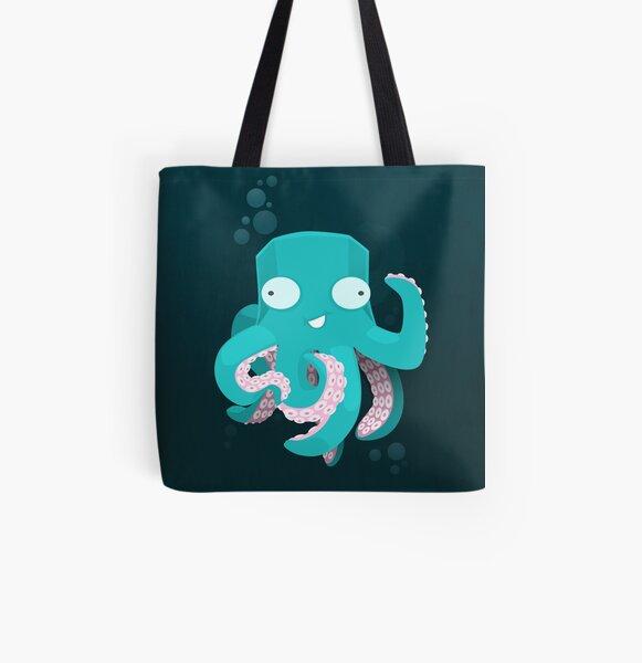 Kraken All Over Print Tote Bag