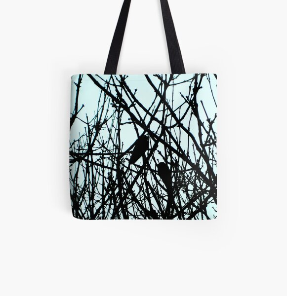 Blackbirds All Over Print Tote Bag