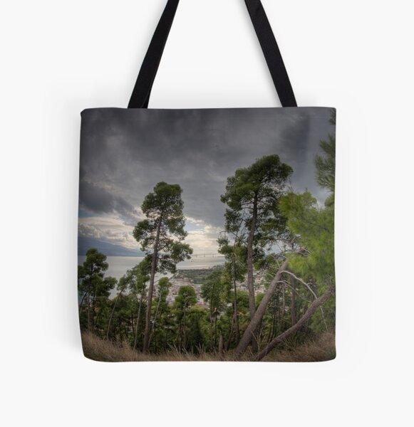 Greek Landscape 006 All Over Print Tote Bag