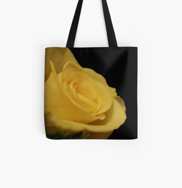 Flower: Yellow Rose II All Over Print Tote Bag