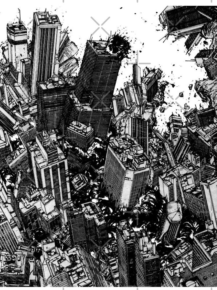Akira Cyberpunk City Explosion Manga Strip Kids T Shirt By Zerplin Redbubble