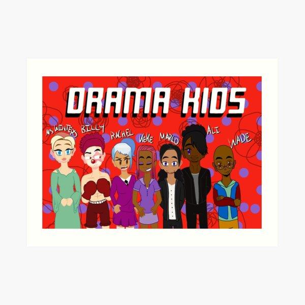 Drama Kids - Grunge Art Print