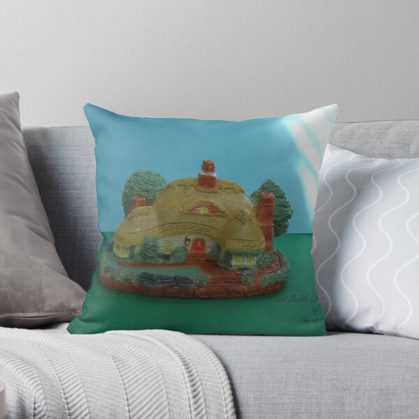 Red Bubble Cottage Throw Pillow