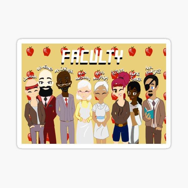 Faculty - Grunge Sticker