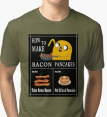 How To: Bacon Pancakes Tri-blend T-Shirt