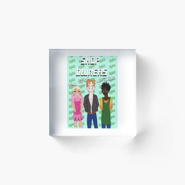 Shop Characters - Grunge Acrylic Block