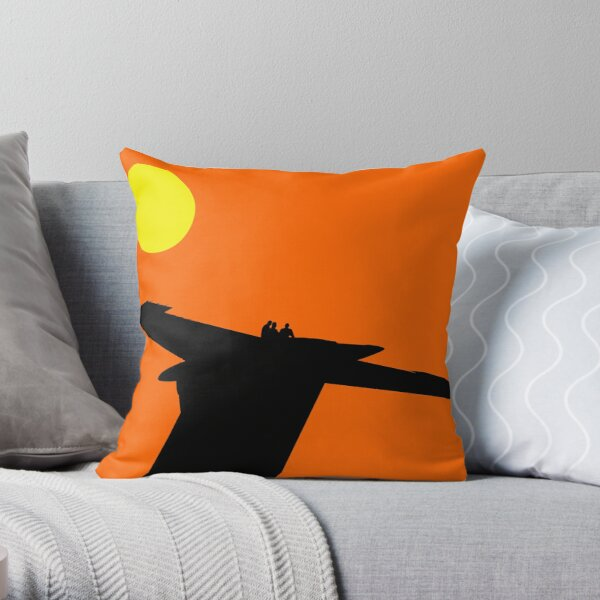 Blue Angels in Silhouette Throw Pillow