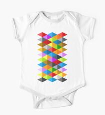 Modern bright funky colorful triangles pattern One Piece - Short Sleeve