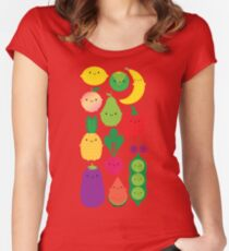 5 A Day Fruit & Vegetables Women's Fitted Scoop T-Shirt