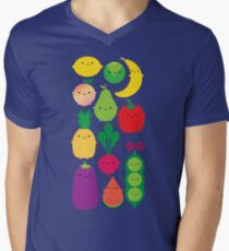 5 A Day Fruit & Vegetables Men's V-Neck T-Shirt