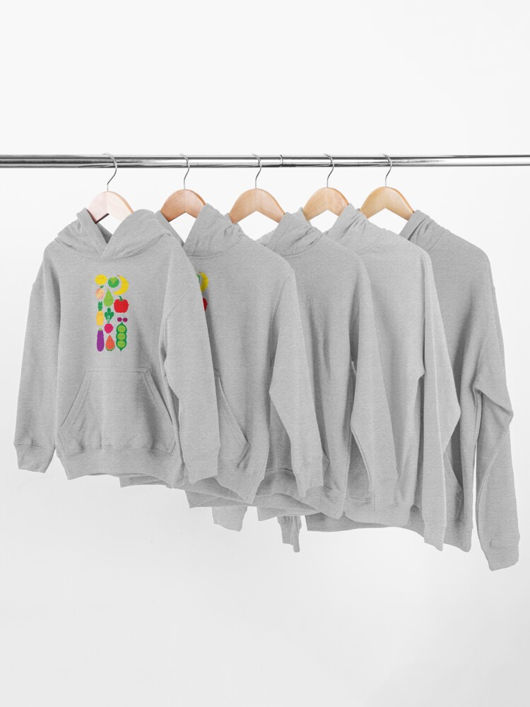 Alternate view of 5 A Day Fruit & Vegetables Kids Pullover Hoodie