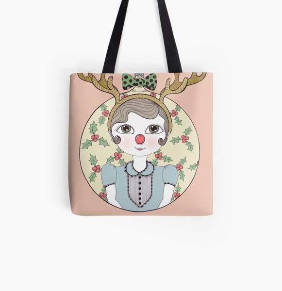Waiting for Santa All Over Print Tote Bag