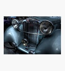 Lea-Francis Headlamps & Grill Photographic Print