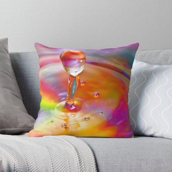 Drop of a rainbow Throw Pillow