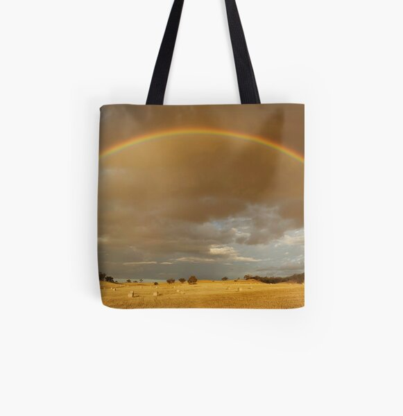 Rainbow Hay All Over Print Tote Bag