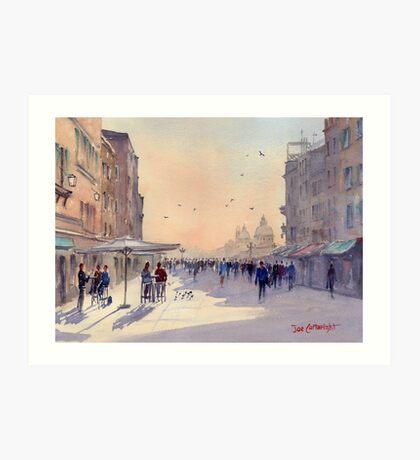 Venice from Via Garibaldi Art Print