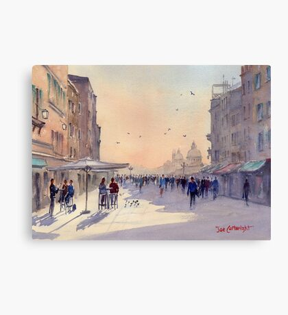 Venice from Via Garibaldi Canvas Print