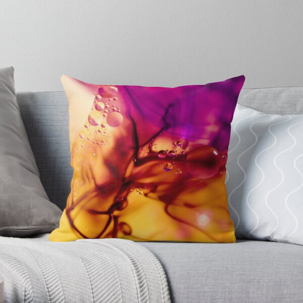 Ink Abstract Throw Pillow