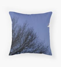 Waxing Crescent with orb Throw Pillow