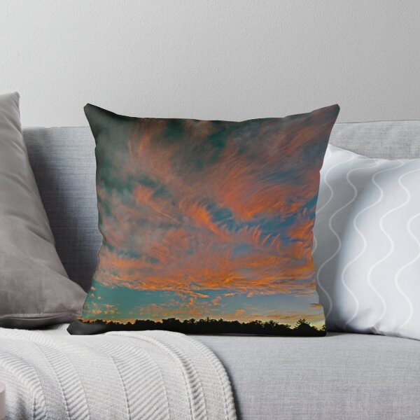 Tongues of Fire Throw Pillow