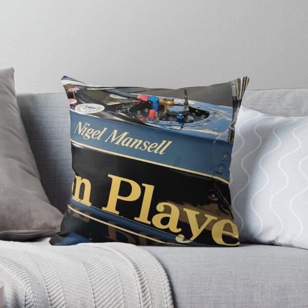 JPS Lotus, Nigel Mansell Throw Pillow