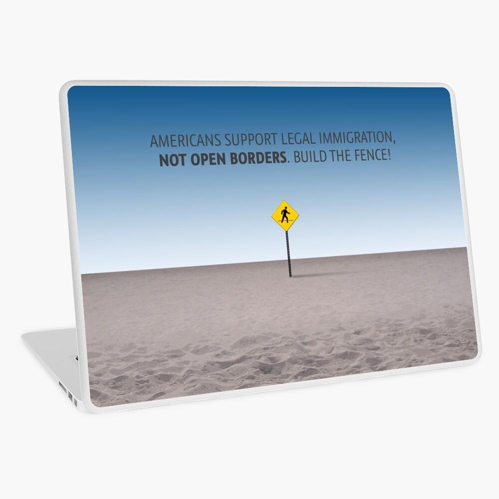 No Open Borders Laptop Skin