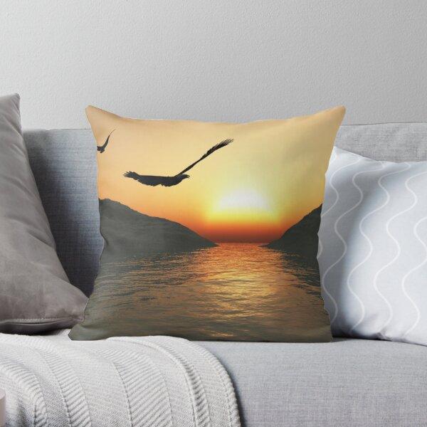 Eagles Sunset Throw Pillow
