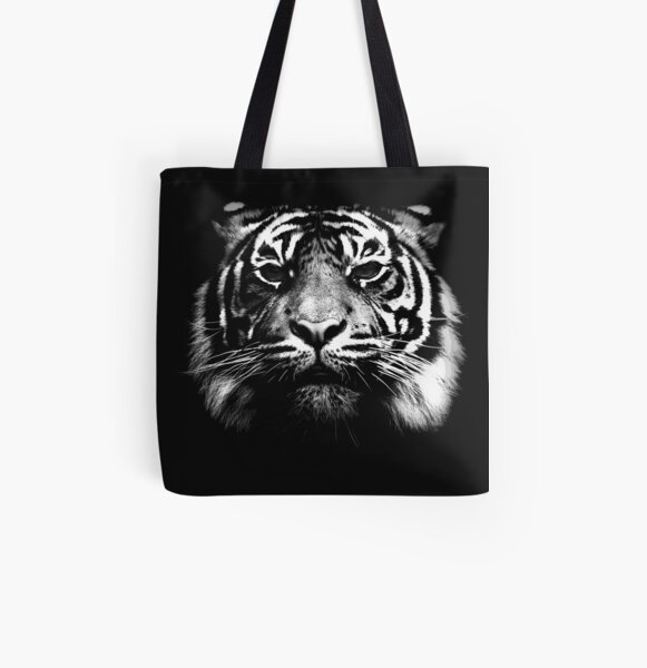 Illustrated Tiger  All Over Print Tote Bag