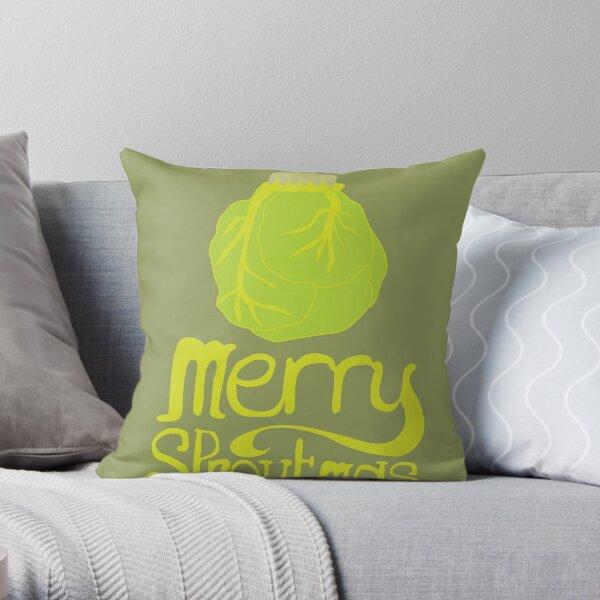 Merry Sproutmas Throw Pillow