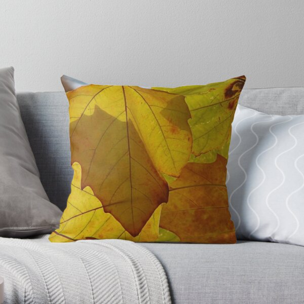 Shadowed leaves Throw Pillow