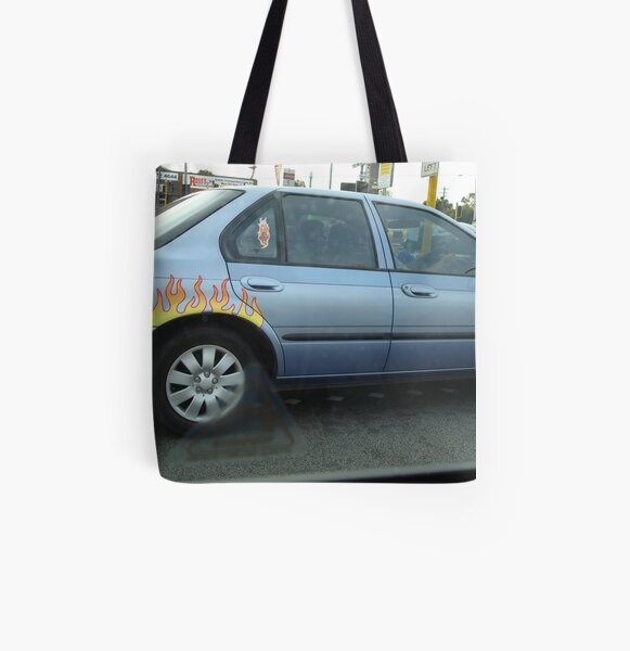 Wheels on Fire, Bayswater All Over Print Tote Bag