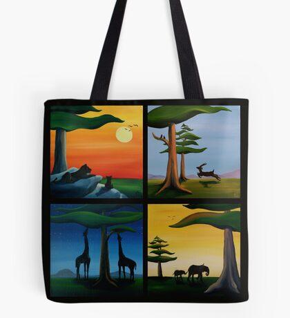 Four Squares Tote Bag