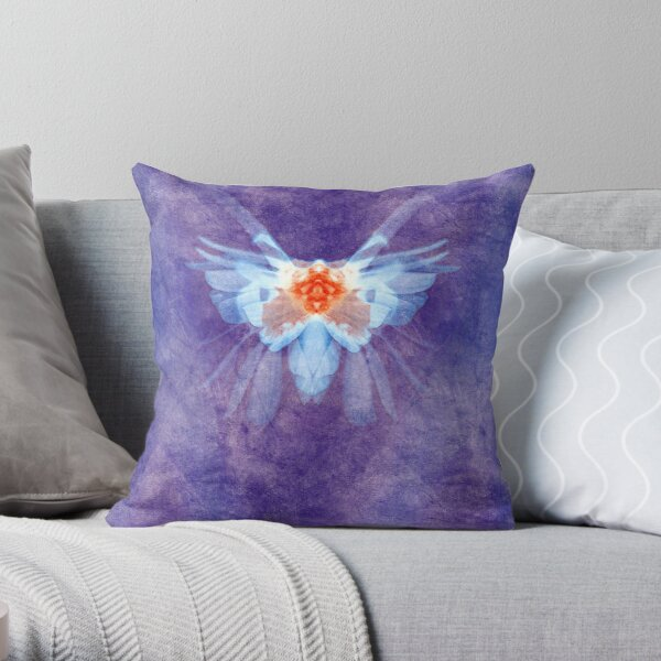 the moth - purple (nature serie) Throw Pillow