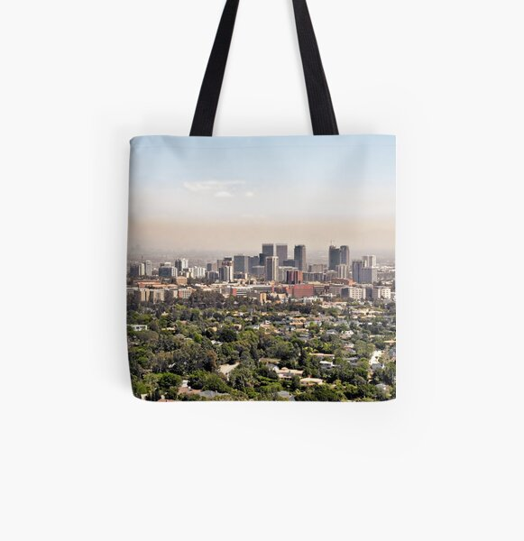 Los Angeles, California - Glitter and Trouble All Over Print Tote Bag