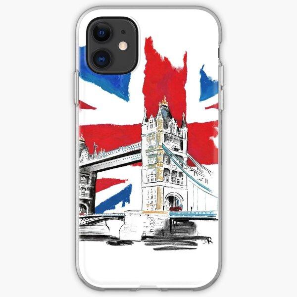 British Union Jack Flag - Tower Bridge, London iPhone Soft Case
