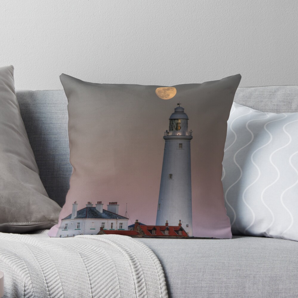 St Mary's moon Throw Pillow