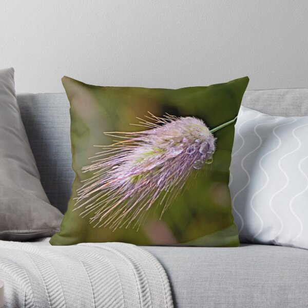 The Heaviness of Rain - Grasses In The Wind II Throw Pillow