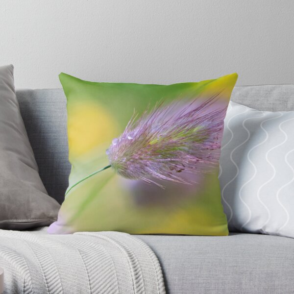 The Lightness of Being - Grasses in the Wind I Throw Pillow
