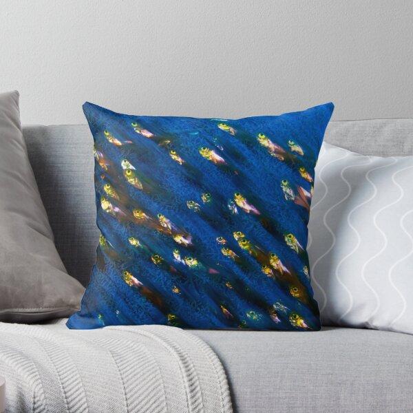Glass Fish Throw Pillow