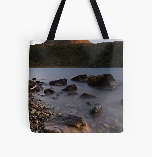 Mt Tarawera, Sunset All Over Print Tote Bag