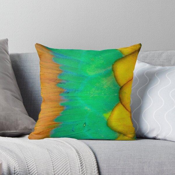 Parrotfish scales Throw Pillow
